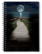 Moonlit Night At The Beach Spiral Notebook