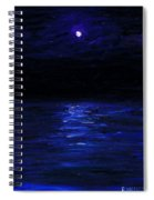 Moonlit Water Mini Oil Painting On Masonite Spiral Notebook