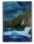 Moonlit Wave Spiral Notebook