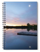 Moonrise At The Fishing Pond Spiral Notebook