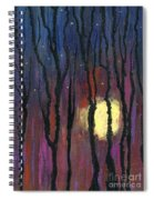 Moonrise In December Spiral Notebook