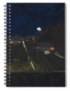 Moonrise On The Road Spiral Notebook