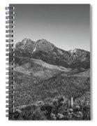 Moonrise Over Four Peaks Spiral Notebook