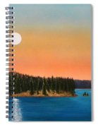 Moonrise Over The Lake Spiral Notebook