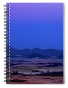 Moonrise Over The Palouse By Jean Noren Spiral Notebook