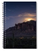 Moonrise Over The Superstitions Spiral Notebook