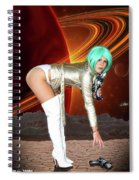 Moons Of Saturn Spiral Notebook