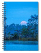 Moonset At The Hungryland Spiral Notebook