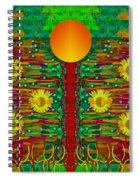 Moonshine Over The Golden Sacred Pond  Spiral Notebook