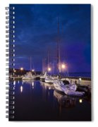 Moored Sailboats Spiral Notebook