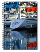 Moored Sailboats Spiral Notebook