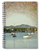 Moored Yachts In A Sheltered Bay Spiral Notebook
