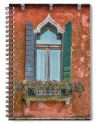 Moorish Window And Texture Venice_dsc5350_03052017 Spiral Notebook