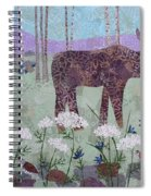 Moose And Three Sparrows Spiral Notebook