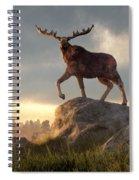 Moose At Dawn Spiral Notebook
