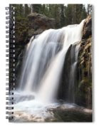Moose Falls Yellowstone National Park Spiral Notebook