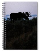 Moose In Silhouette Spiral Notebook