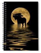 Moose In The Moonlight Spiral Notebook