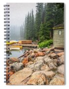 Moraine Lake And Boathouse Spiral Notebook