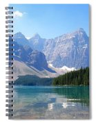 Moraine Lake Down Low Spiral Notebook