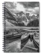 Moraine Lake In Black And White Spiral Notebook