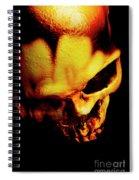 Morbid Decaying Skull Spiral Notebook