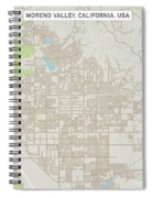 Moreno Valley California Us City Street Map Spiral Notebook