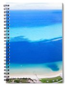 Moreton Island Aerial View Spiral Notebook