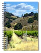 Morning At Mosby Vineyards Spiral Notebook