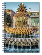 Morning At Pineapple Fountain Spiral Notebook