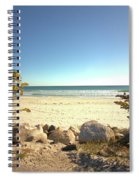 Morning At Qgunquit Beach. Spiral Notebook