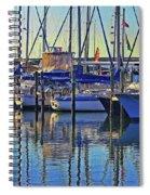 Morning At The Marina Spiral Notebook