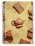 Morning Breakfast Chocolate Tea Set  Spiral Notebook