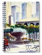 Morning, Bryant Park  Spiral Notebook