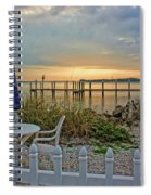 Morning By The Bay Spiral Notebook