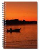 Morning Fishing On The Lake Spiral Notebook