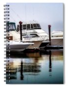 Morning Fog At Boothbay Spiral Notebook