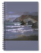 Morning Fog Shark Harbor - Catalina Island Spiral Notebook