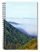 Morning Fog At Sunrise In Autumn Spiral Notebook