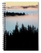 Morning Fog In Northern Saskatchewan Spiral Notebook