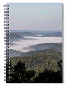 Morning Fog On Pine Mountain Spiral Notebook