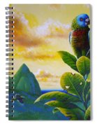 Morning Glory - St. Lucia Parrots Spiral Notebook