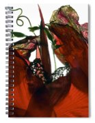Morning Glory Canna Red Spiral Notebook