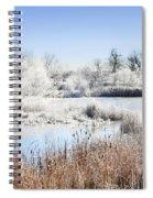 Morning Hoar Frost Spiral Notebook
