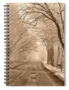 Morning Ice And Fog Spiral Notebook