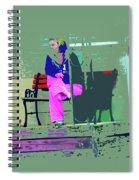 Morning In Her Pink Pajamas Spiral Notebook