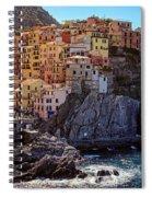 Morning In Manarola Cinque Terre Italy Spiral Notebook