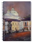 Morning In The Plaza- Quito, Ecuador Spiral Notebook