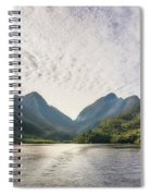 Morning Light Hitting The Docks At Doubtful Sound In New Zealand Spiral Notebook