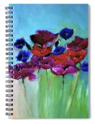 Morning Light Poppies Painting Spiral Notebook